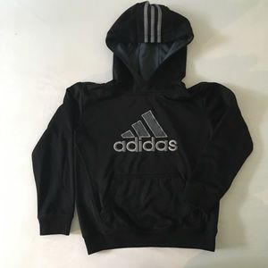 Adidas boys' logo hoodie, size S 8